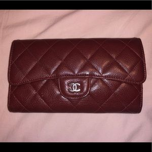 100% Authentic Red Chanel Envelope Wallet